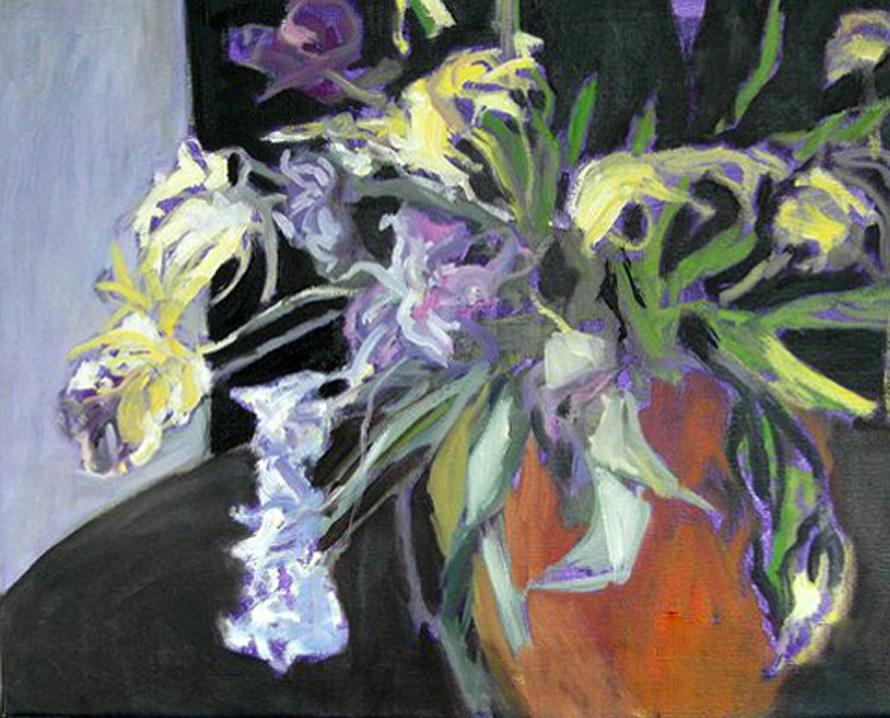 Schilderijen bloemen beeldend kunstenaar krysia peka for Schilderijen van bloemen